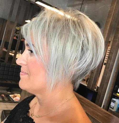Chic Silver Pixie For Fine Hair