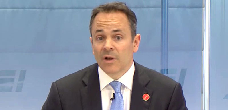 EPIC VIDEO: Gov Matt Bevin SCHOOLS questioner trying to call him out on gun control…
