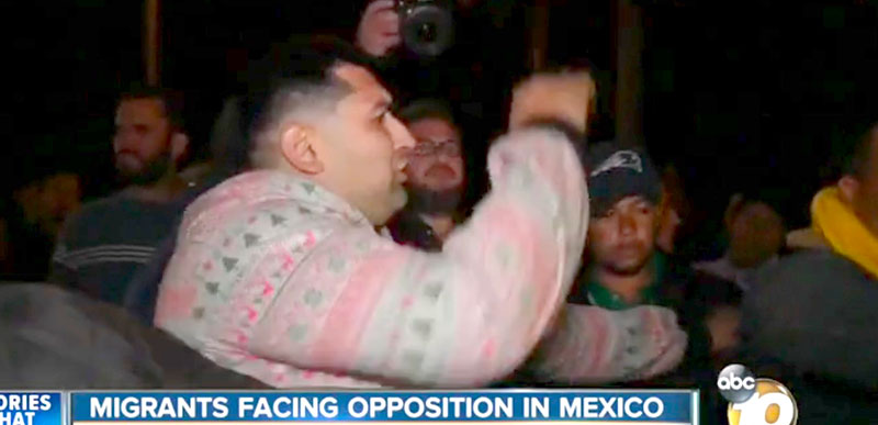 WATCH: Migrant mob is already fighting with Tijuana residents!
