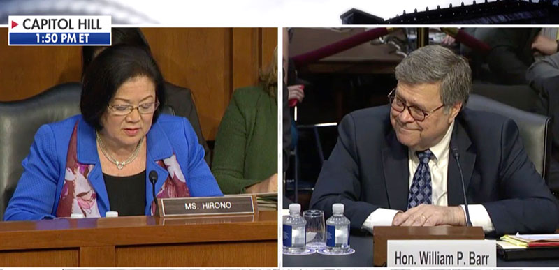 Condescending Democrat Mazie Hirono suggests Trump AG nominee RECUSES himself like Jeff Sessions