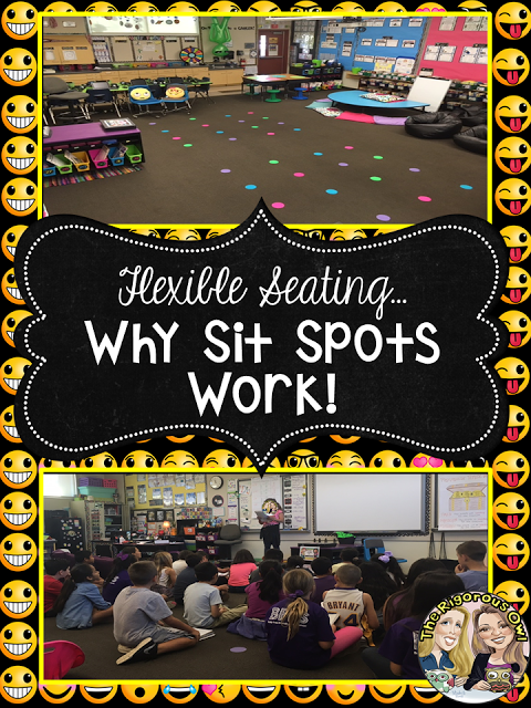 Sit Spots work for Flexible Seating!