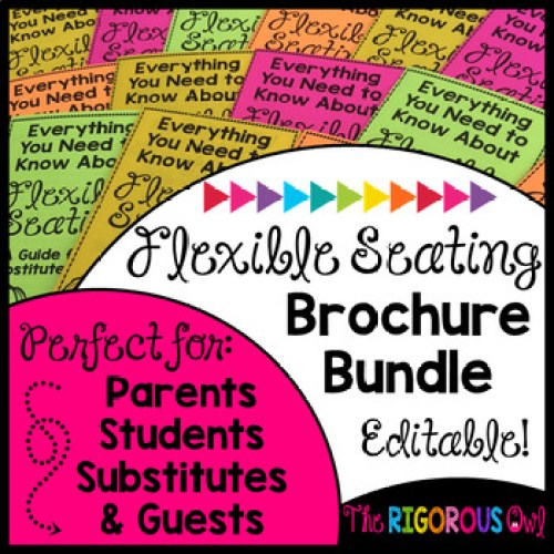 Communicate about your flexible seating classroom by using brochures for parents, substitutes, classroom visitors and students!