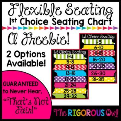 1st Choice Seating for the Flexible Seating Classroom FREEBIE!
