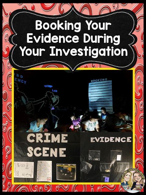 Booking Evidence During Your Mystery Unit