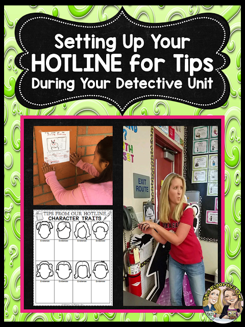Set up a Tip Line during your Mystery Unit with THIS FREEBIE!