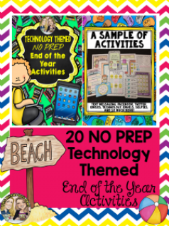 20 No Prep Technology Themed Activities