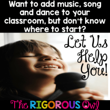 Let us help you use song and dance in your classroom. Click here and read the simple steps that require no work on your part! Plus grab our FREE music lyrics.