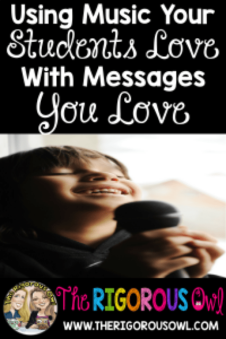 Read all about using music students love with messages you love. You will change the whole culture of your class with just a little music. Plus grab our FREE music lyrics.