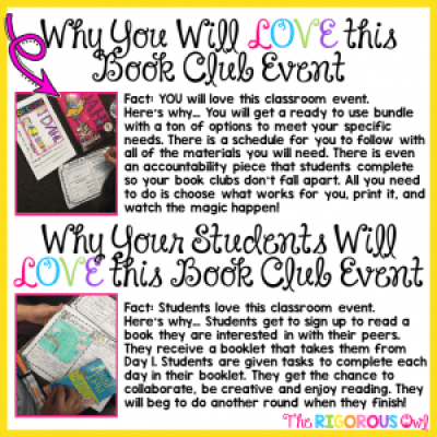 Find out why YOU and YOUR STUDENTS will LOVE Book Clubs!!!!