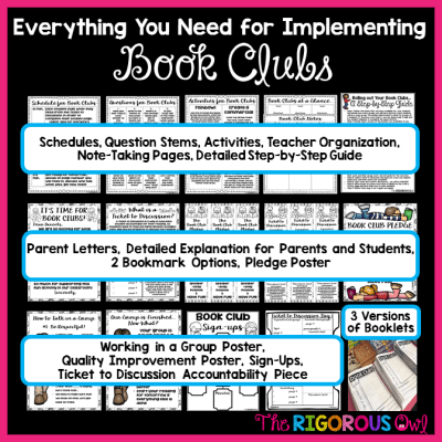 EVERYTHING you NEED to run Book Clubs in your classroom!