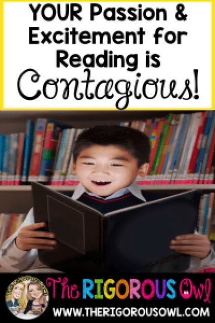Your passion and excitement about reading is contagious! Find out one way to spread this to your students!