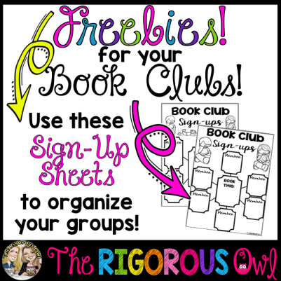 Book Club FREEBIE! Organize your Book Clubs with this FREEBIE!
