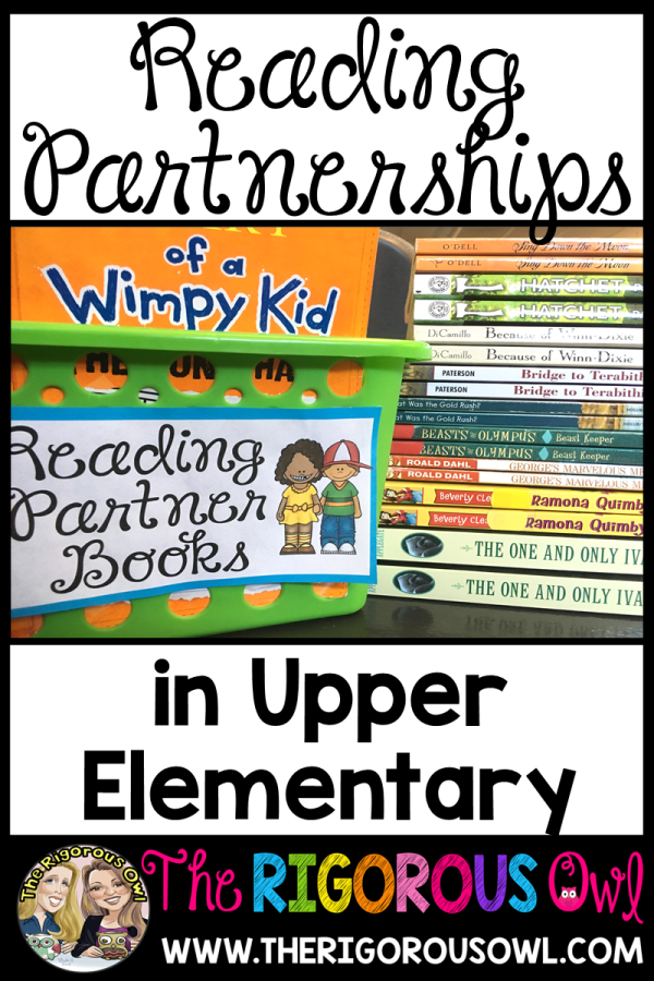 Find out all about Reading Partnerships in the upper elementary classroom!