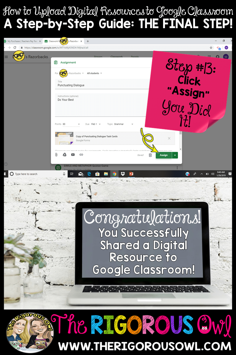 Uploading to Google Classroom The Final Step!