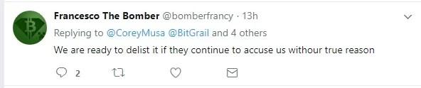 BitGrail Owner Threatens to Delist RaiBlocks