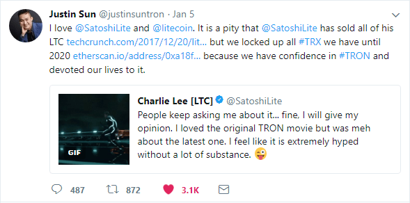 Justin states that developer TRX is locked