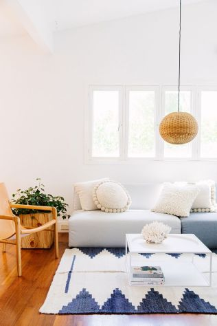 rugs, throwpillows, cushions that make a house warmer and make it a home.