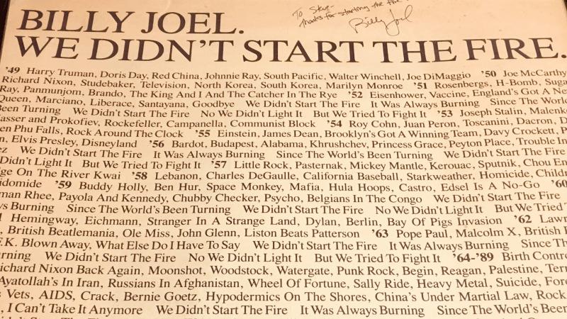We Didn't Start The Fire Billy Joel: An April 2021 Recap of Global Affairs