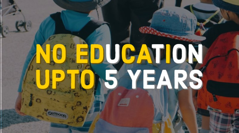 No education upto 5 years