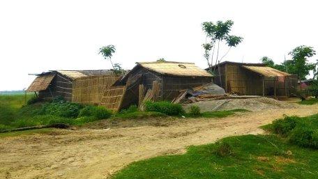 Fragile Houses near the river bank in Bhagwangola II