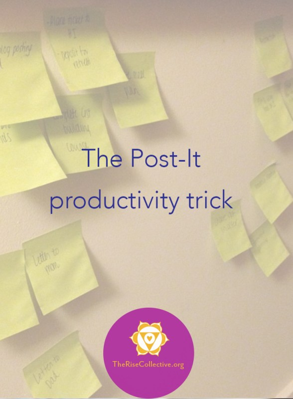 productivity with post-it notes