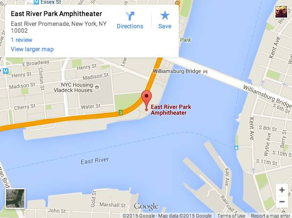 east river amphitheater map