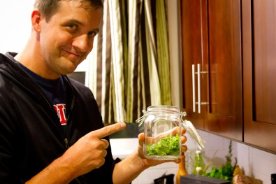 DIY Creme de Menthe, Part 3: Mint in a Jar