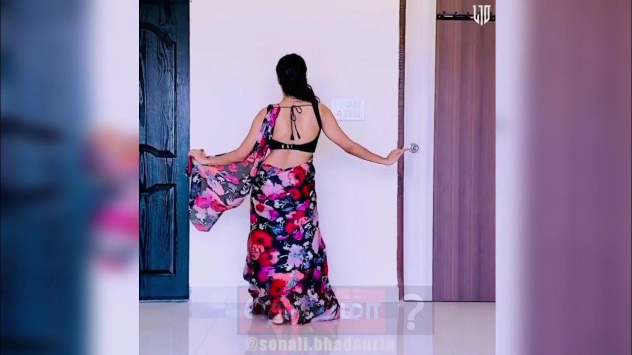 சேலையில் இளம்பெண் போட்ட செம டான்ஸ்