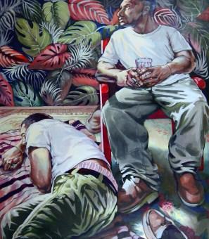 Bob Dilworth painting: Jason in Studio 2