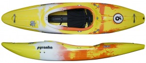 creek boat, pyranha kayak, whitewater kayak, 9'R