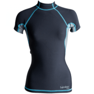 women's short sleeved neoprene top, kayak apparel