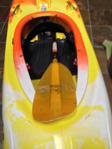 the river store, break down paddle, kayak