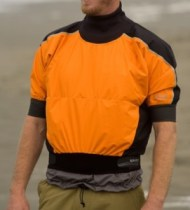 shorty top, short sleeved paddling jacket, the river store, gore- tex