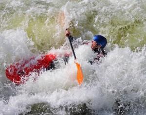 Kayaking on whitewater