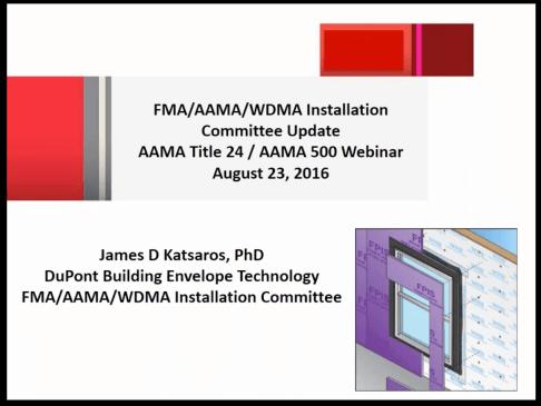 AAMA webinar Installation of Wi