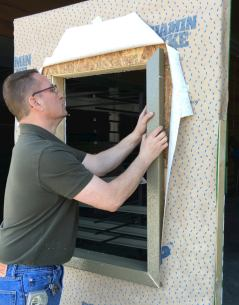 ThermalBuck installation vs. wood buck installation - thermal break