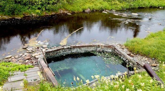 Источники Пым-Ва-Шор («ручей горячей воды»), Т=20-28.5°С, Ненецкий АО и Республика Коми