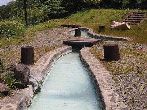 Photo T.Glushko. Takayu onsen - foot bath. 2017