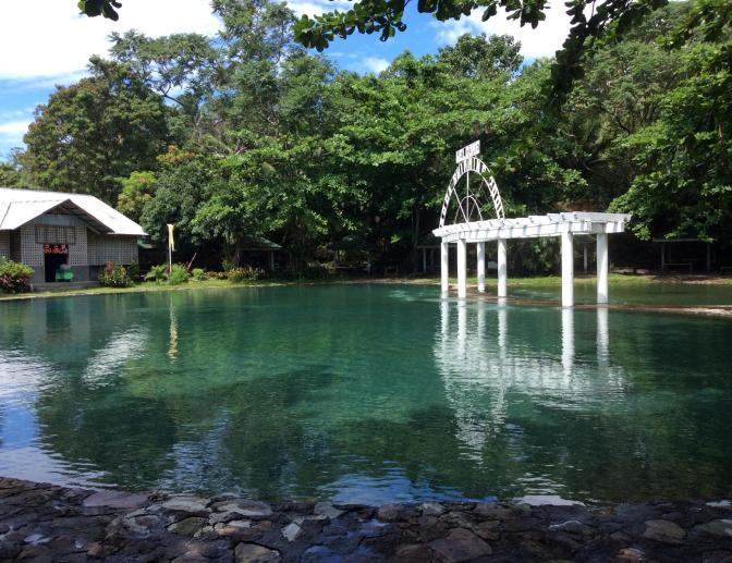Bura Sodawater hot spring resort, Camiguin, Philippines