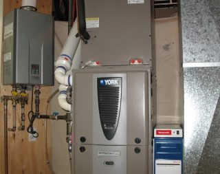 Rinnai Tankless Water Heater and York Furnace Installation