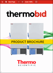 Thermo Scientific TSD Series -40°C Upright Ultra-Low Temperature Freezers Product Brochure