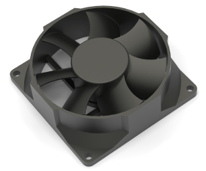 An electronics cooling fan for thermoelectric design and simulation