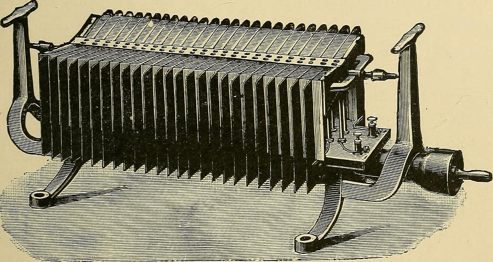 A thermoelectric generator from 1901