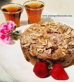 Vegan Rhubarb Strawberry Tea Cake