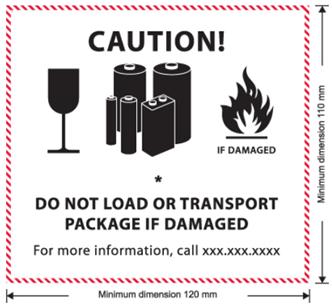Autocollant pour transport de matières dangereuses