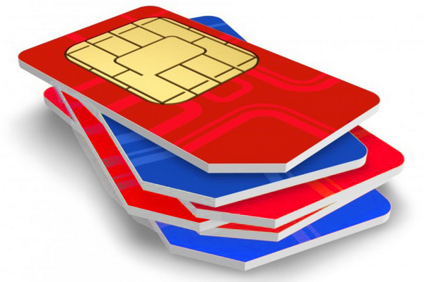 pile de cartes SIM