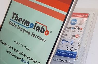 Lecture d'un enregistreur de température Sensolabo NFC