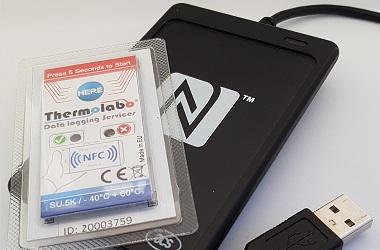 Enregistreur de témpérature NFC lecture avec un PC