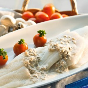 Pescado-con-salsa-de-champinones