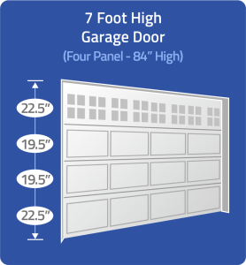 7 foot door with unequal panels